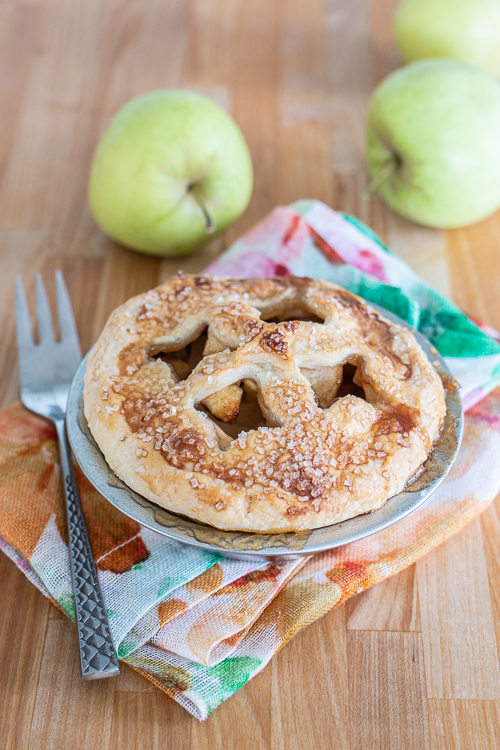 Maple syrup-sweetened and cinnamon-infused, these Personal Apple Pies serve up all the goodness of homemade apple pie in petite, single-serve packaging.