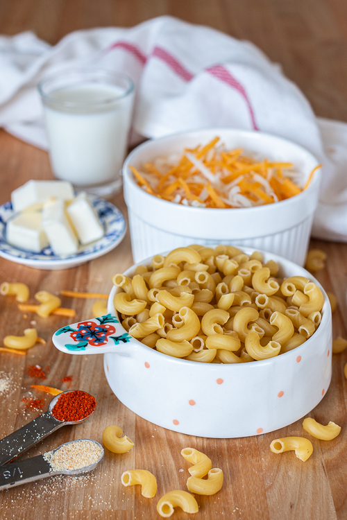 Rich, cheesy, and satisfying, this Single-Serving Mac and Cheese recipe comes together on the stovetop just as easily as macaroni and cheese from a box, but it tastes so much better!