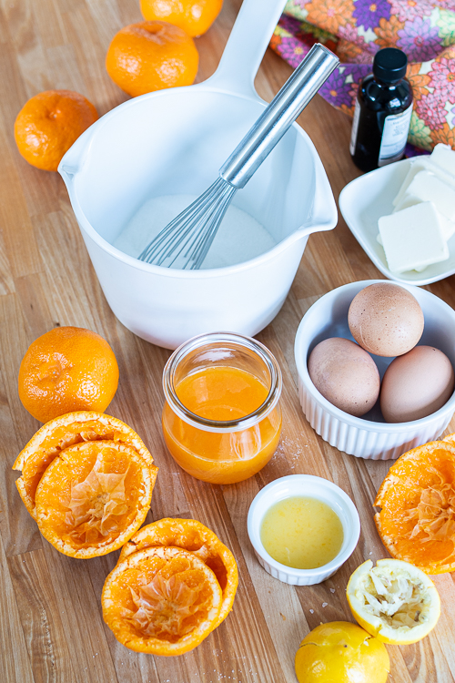 Mini Mandarin Tarts feature sweet, creamy mandarin curd layered into crisp gingerbread cookie cups. The tangy citrus pairs so well with the gingerbread, delivering a bright, sunny flavor with a holiday twist.