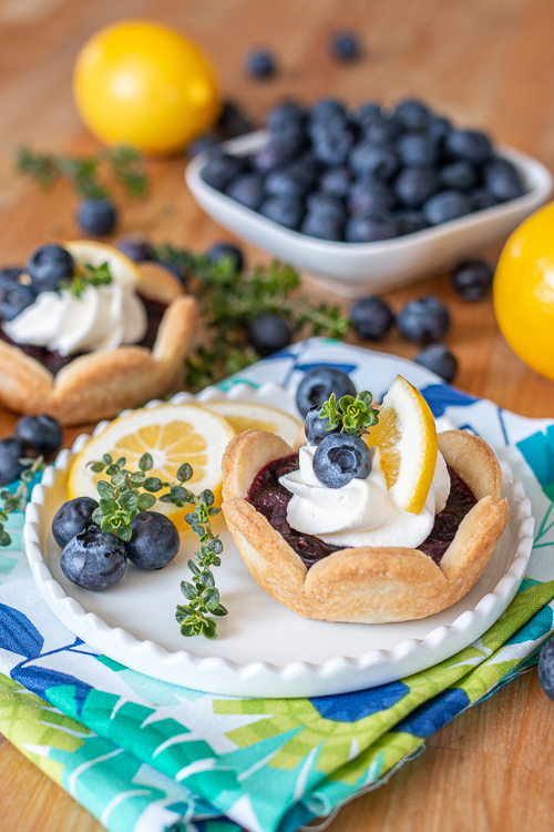Sweet and tart, these Mini Blueberry Pies deliver bold blueberry flavor with a hint of lemon. Their small size makes them so easy to serve and eat!
